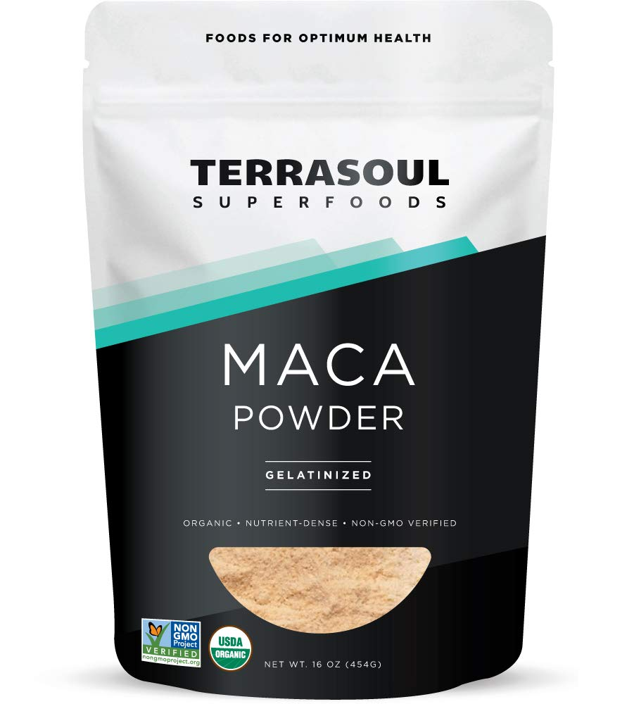 Terrasoul Superfoods Organic Gelatinized Maca Powder, 1 Lb - Premium Quality | Supports Increased Stamina & Energy | Gelatinized for Easy Digestion