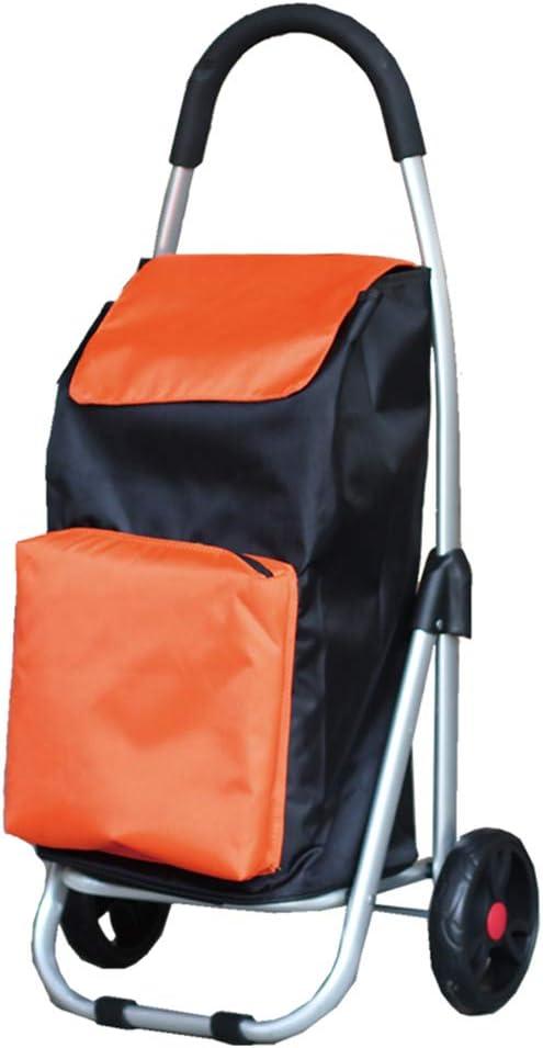 Small Cart ARESS Shopping Cart Shopping Cart Aluminum Alloy Folding Trolley Portable Trolley A++