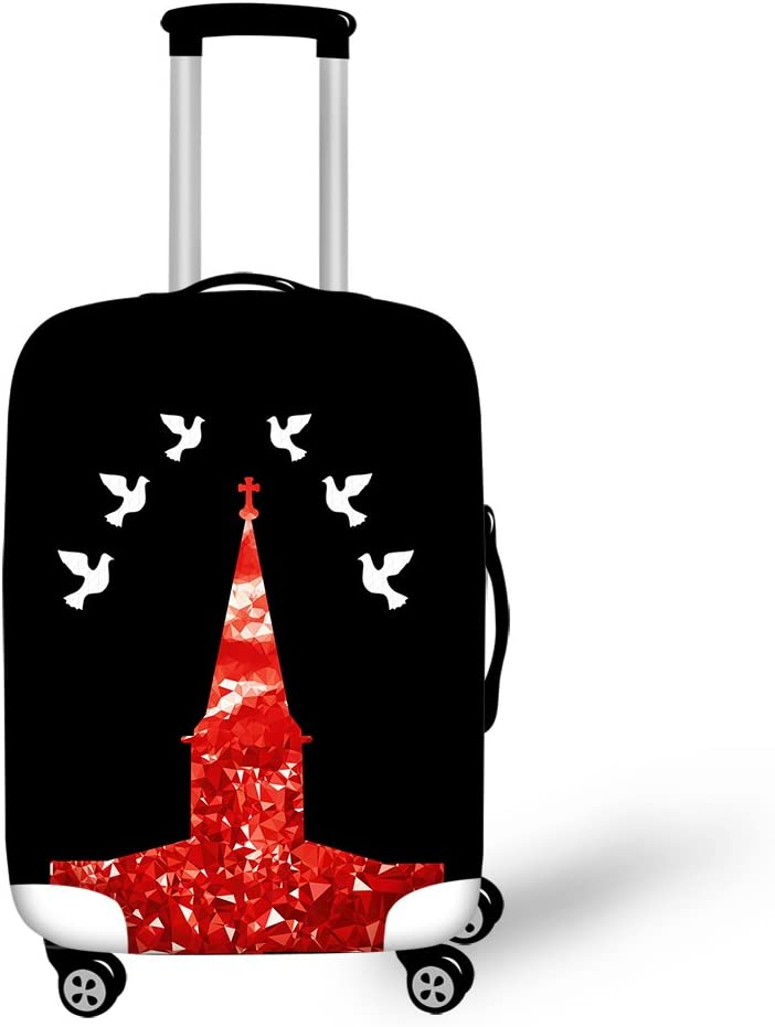 Cozeyat Luggage Cover Zipper Closure Suitcase Cover Eiffel Tower Print Anti-Scratch Suitcase Protector Fits 18-28 Inch