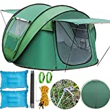 Happybuy Instant Popup Camping Tent 3-5 Person Waterproof Automatic Pop-up Tent Easy Quick Setup with Sky-window and Sun Shelter Instant Pop Up Outdoor Tent with Carrying Bag for Family Camping Picnic