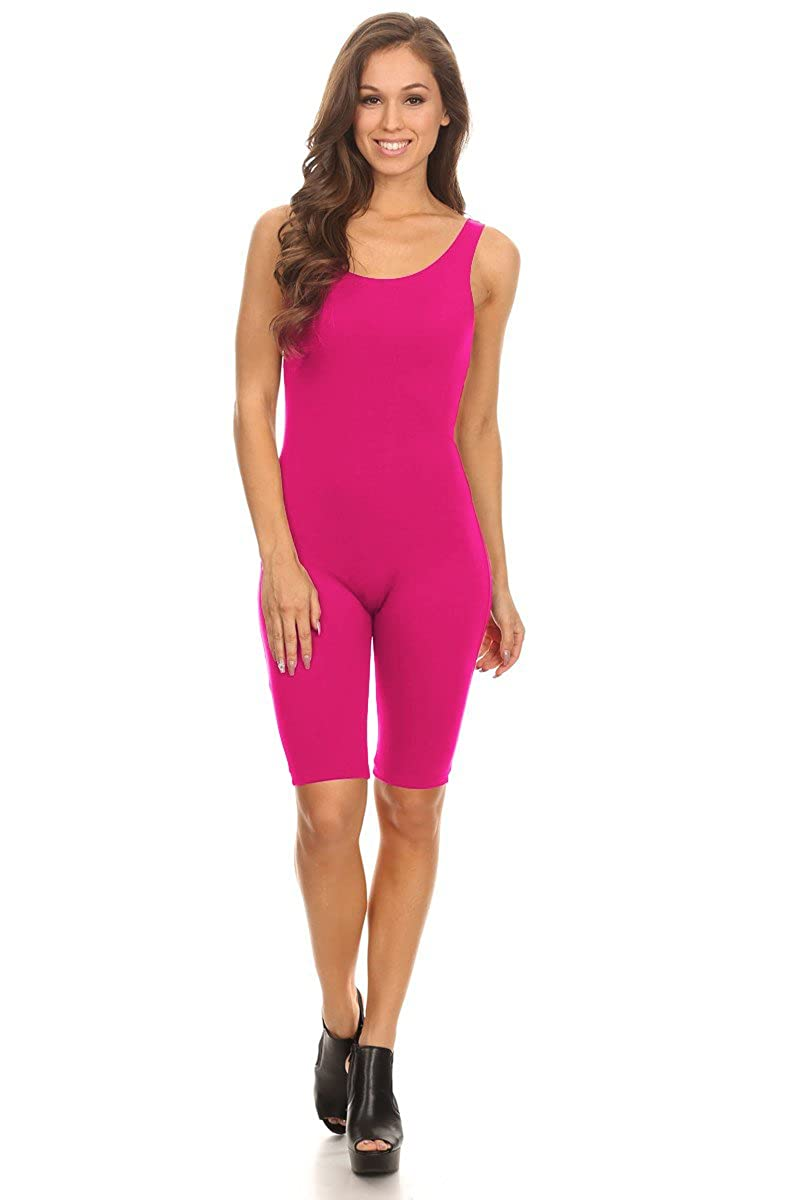 Stretch Cotton Bodysuit スキニー レディース ノースリーブ ノースリーブ ストレッチコットン スキニー 無地 Pink_seller 膝丈 スポーツアクティブ 全身タイツボディスーツ(& Plus) B07886TQYV XX-Large|Hot Pink_seller Hot Pink_seller XX-Large, starlive:025b5f32 --- br4tecnologia.com.br