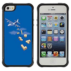 Hybrid Anti-Shock Defend Case for Apple iPhone 5 5S / Tetris