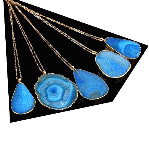 KeyZone Fashion Colorful Gemstone Necklace