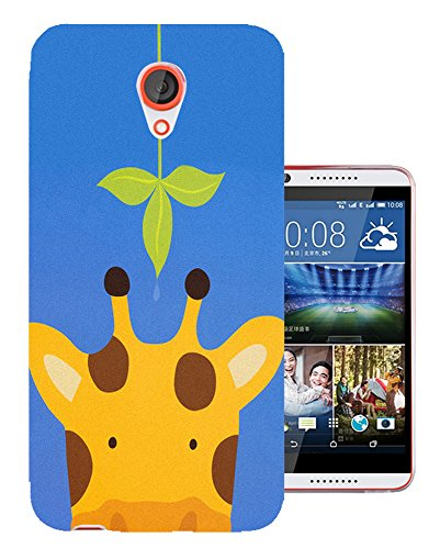 500 - Cute Giraffe Green Leaf Design Htc Desire 620 Fashion Trend CASE Gel Rubber Silicone All Edges Protection Case Cover (Htc 500 Desire Rubber Case)