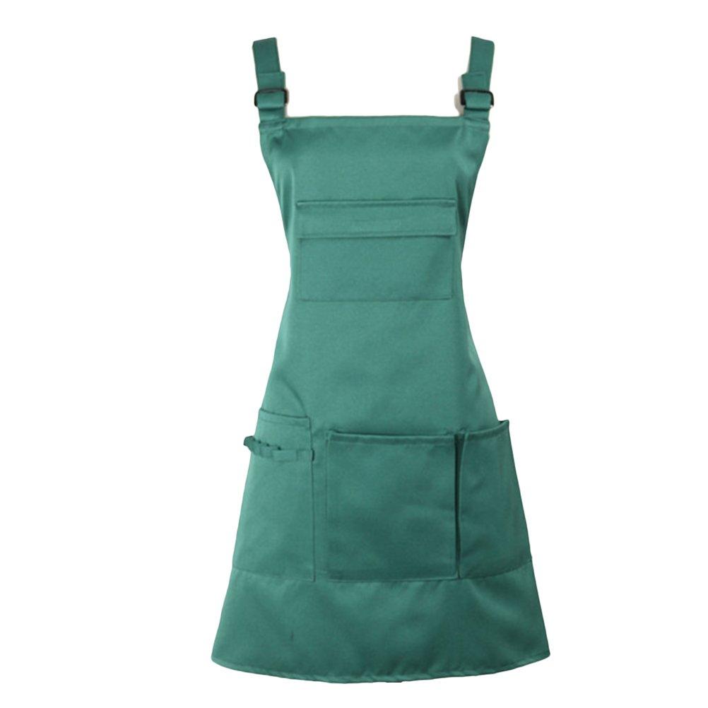 Zhhlinyuan Premium Multi-color Multi-pocket Retro Adjustable Ruffle Apron Kitchen Cooking Baking Cleaning Costume zhuhaishi xiangzhou linyuan dianzi shanghang