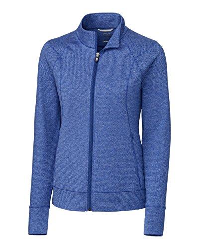 Cutter & Buck Ladies L/S Shoreline Full Zip Jacket, Tour Blue Heather - XL (Shoreline Blue Jackets)
