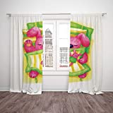 Best Warner Bros. In Babies - SCOCICI Satin Window Drapes Kitchen Curtains [ Cartoon,Cute Review