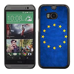 YOYO Slim PC / Aluminium Case Cover Armor Shell Portection //European Union EU Grunge Flag //HTC One M8