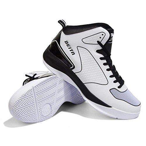 Im Freien Breathable Gehende Schuhe Hohe Spitzenbasketball Beschuht Zufällige Gehende Schuhe BerufsTrainer-Schuhe 38-43 Weiß