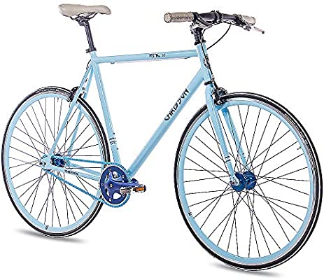 71.12 cm pulgadas para bicicleta Fixie CHRISSON FG flat 1.0 fixed Gear Single Speed light azul, color , tamaño Rahmengrösse: 56cm, tamaño de rueda 28|inches: Amazon.es: Deportes y aire libre