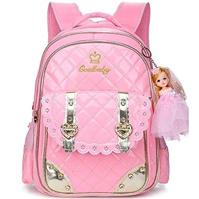 7e2772340594 Ali Victory Waterproof PU Leather Backpack for Girls Sweet Kid s School  Bookbag delicate