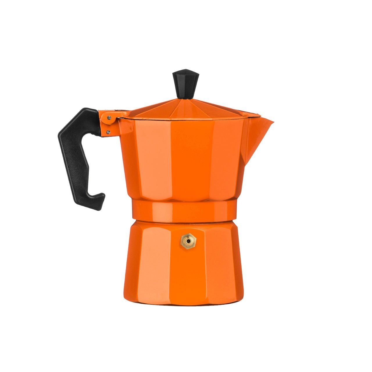 Traditional Italian Style Design 3 Cup Espresso Coffee Maker - Orange Aluminium