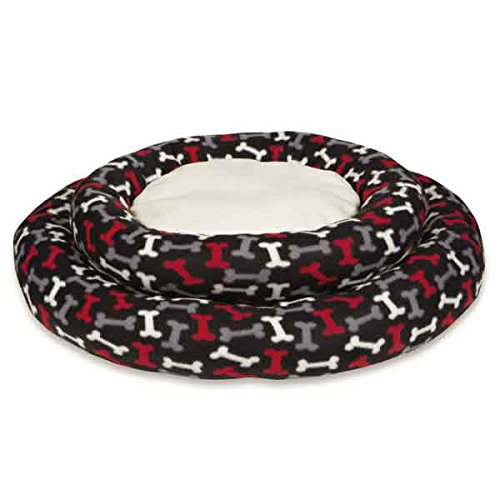 Slumber Pet Fleece Donut Beds for Dogs and Cats (5 Pack), Small, Black by Slumber Pet (Image #3)