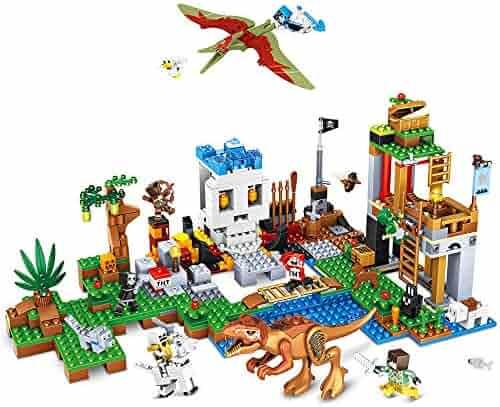 BOY-S-YEAR 652 Pieces Building Blocks Dinosaur Blocks Brick Building Set Learning Educational Dinosaur Building Blocks for Boys Girls Great Birthday Gift Idea