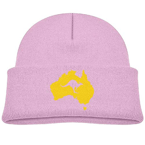 - Australia Map Kangaroo Winter Knit Hats Baby Fleece Beanie Cap Girls'