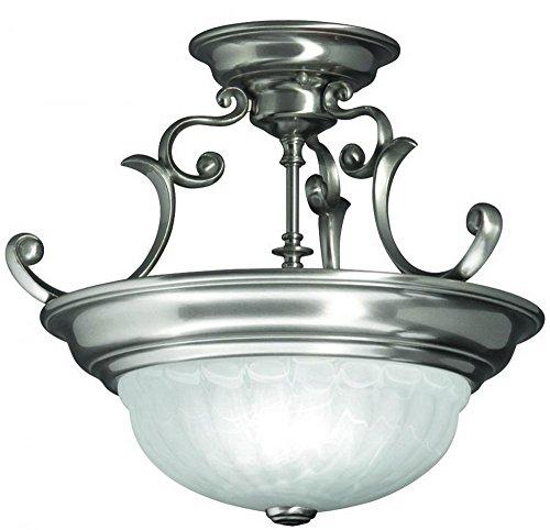 - Dolan Designs 524-09 Richland 2 Light Semi Flush mount, Satin Nickel