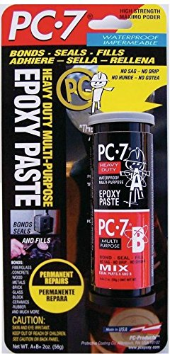 (Pc Products 027776 Pc-7 2 Ounce Package Strong Tough Epoxy Paste Glue Adhesive)
