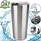 Best Coffee Thermos With Straws - Travel Mug 20 oz Tumbler Vacuum Insulated Thermos Review
