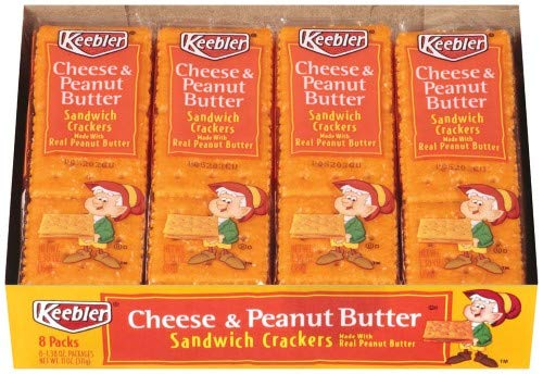 Keebler, Cheese & Peanut Butter Sandwich Crackers (Pack of 24)