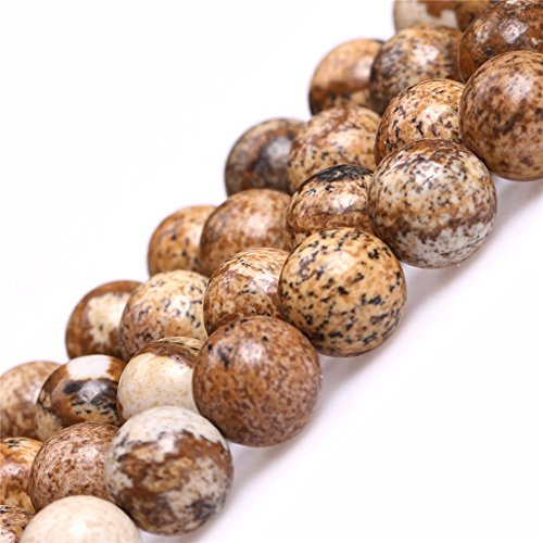 Picture Jasper Beads for Jewelry Making Natural Gemstone Semi Precious 8mm Round 15