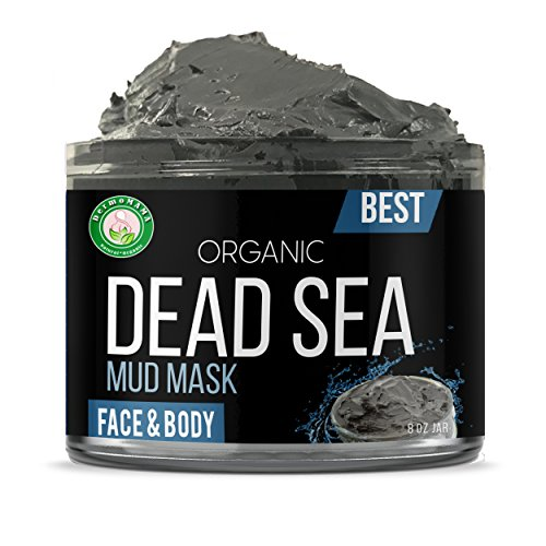 Head Organics Natural - Dead Sea Mud Mask Pure Natural and Organic Formula, Exfoliating Facial Mask For Soft , Smooth Complexion, Anti-Acne Beauty Treatment For Oily Skin, Blackheads And Pores Deep Cleansing By Dermomama 1lb