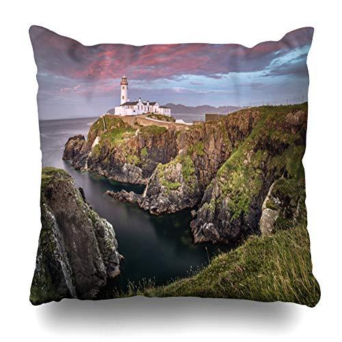 Ahawoso Throw Pillow Cover Square 16x16 Ireland Blue Albatros Donegal Fanad Head Quadro Nature Atlantic Carta Parati City Coast Zippered Cushion Case Home Decor Pillowcase