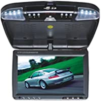 Absolute DFL4008IRB 9.5-Inch TFT-LCD Overhead Flip-Down Monitor with DVD Player and Built-in IR Transmitter (Black)