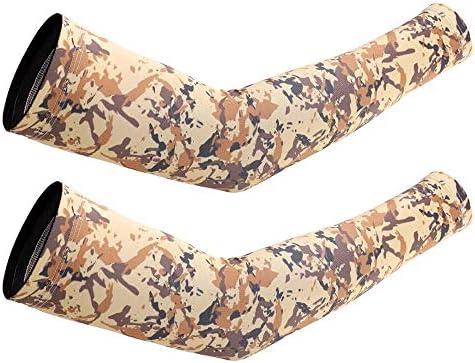 Mini gloves ユニセックスアウトドアスポーツコンプレッションアームアーム暖かい夏アウトドアアイスサンスクリーンスリーブメンズUVカモフラージュアイスシルクスリーブアームバンドメンズ (Color : F, Size : L)