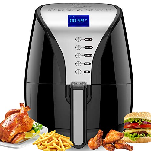 Habor 3.9Qt Air Fryer Oilless Air Fryer Oven Xl, Deep Fryer with Digital LCD Screen, 1500W Air Fryer Auto Off and Memory Function, Detachable Basket Dishwasher Safe, Recipes Included