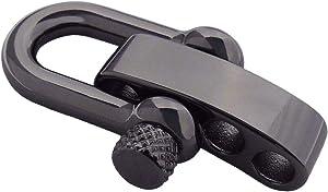 Type-III Gunmetal Adjustable Stainless Steel Shackle for Paracord Bracelets
