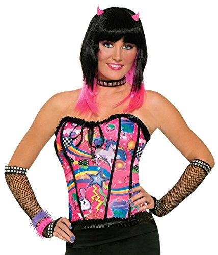 Forum Novelties Women's Sugar Vibe Candy Corset Costume Accessory, Multi, One Size