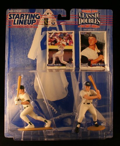 (MARK MCGWIRE / OAKLAND A'S & ROGER MARIS / NEW YORK YANKEES 1998 MLB Classic Doubles * Winning Pairs Series * Starting Lineup Action Figures & Exclusive Collector Trading Cards)