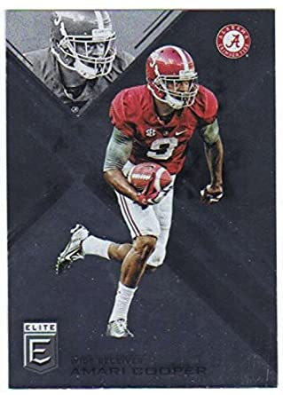 475acad8e 2017 Panini Elite Draft Picks  6 Amari Cooper Alabama Crimson Tide Football  Card