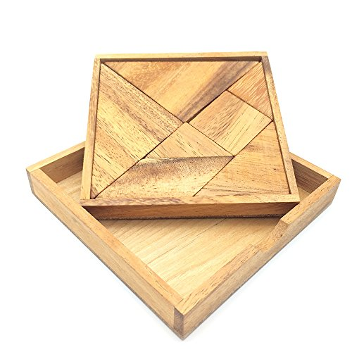 BRAIN GAMES Pocket Tangram Wooden Puzzle