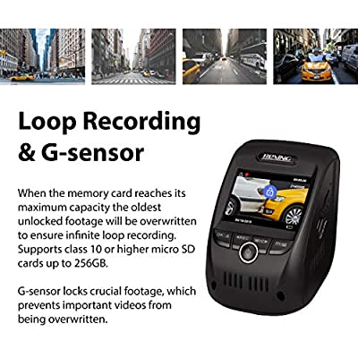 Rexing V1P 3rd Generation Dual 1080p Full HD Front and Rear 170 Degree Wide Angle Wi-Fi Car Dash Cam with Supercapacitor, 2.4