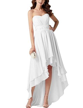 VKStar® Robe Asymétrique Femme Elégante de Soirée Mariage