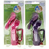 O2Cool Pocket Carabiner Fan with batteries (2 Pack)