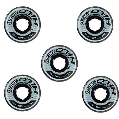 Revision Goalie Wheels Inline Roller Hockey Static 59mm 76A 5-Pack
