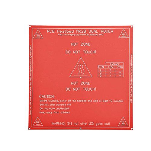 12V / 24V 214 1.5mm PCB Hot Plate Heatbed Heat Bed for 3D Printer(12V/120W)