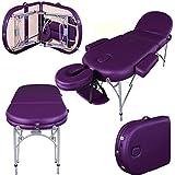 Massage Imperial® Consort - Table de massage Portable pro luxe - Aluminum - 3 Zones - Couleur : Violet