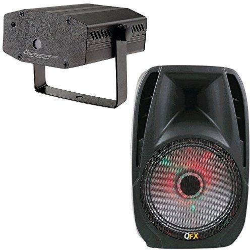 QFX KIT5QFXBTL41 Portable Bluetooth Party PA Speaker with La