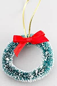"""Factory Direct Craft Set of 12 Frosted Sisal Wreaths -2-1/4"""""""