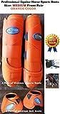 Professional Equine Horse Sports Medicine Splint Bell & Bell Boots Orange 41ORA