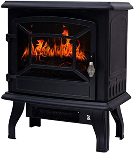 Small Electric Fireplace Stove Heater With Wood Fire Led Light 1 Second Warmth Portable Winter Freestanding Fireplace Heater Stove With Body Scatter Protection For Living Room Black Amazon De Küche Haushalt
