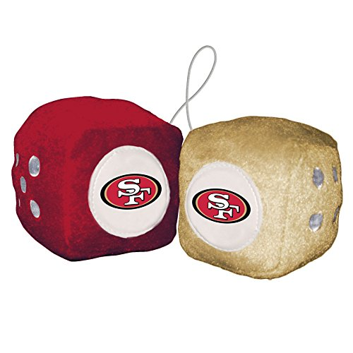 NFL San Francisco 49Ers Fuzzy Dice,one red, one gold w/ - Outlet San Mall Francisco