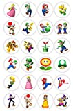 24 EDIBLE IMAGE-24 MARIO BROTHERS DESIGN (#1) CUPCAKE TOPPERS