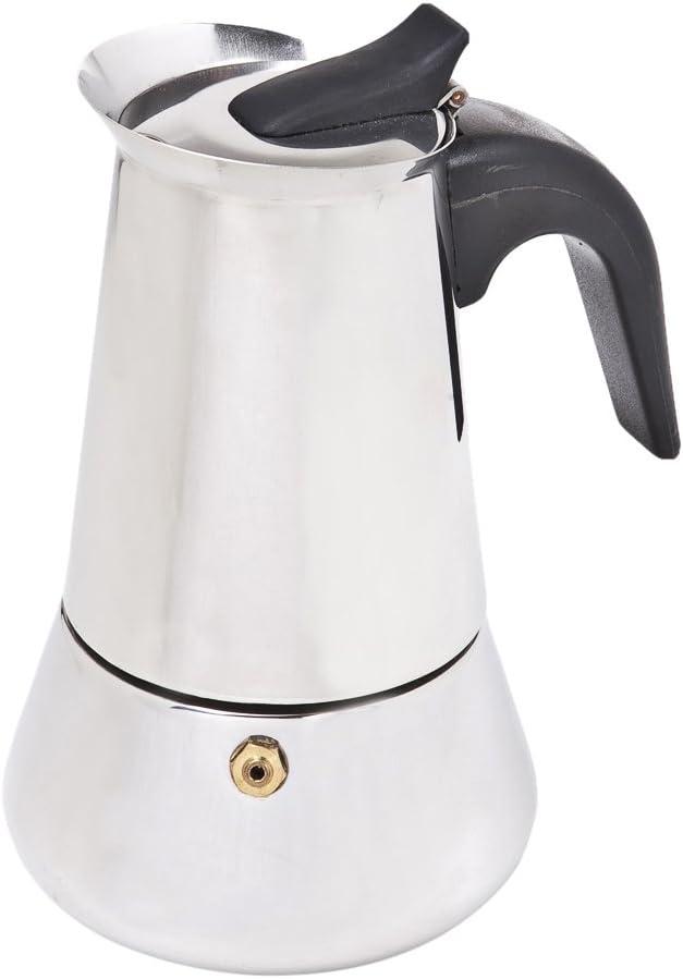 Jomafe Coffeexpress Cafetera Italiana de inducción, 4 Tazas, Acero Inoxidable, Plateado, 0 cm: Amazon.es: Hogar