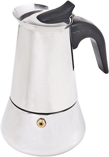 Jomafe Coffeexpress Cafetera Italiana de inducción, 4 Tazas, Acero ...