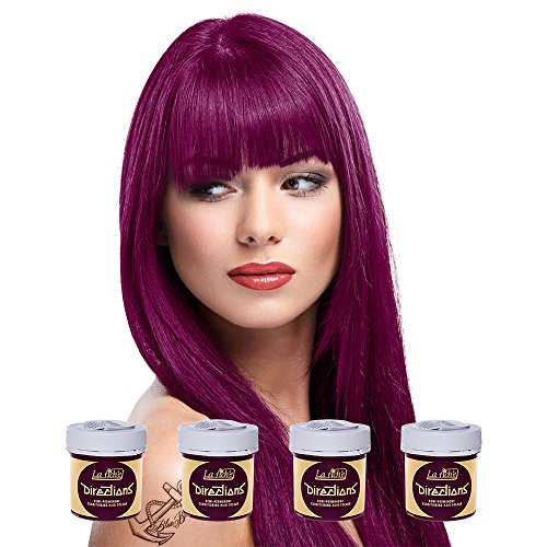 4 x La Riche Directions Semi-Perm Hair Colour Dark Tulip (ALL COLOURS Avail) 4x 88ml