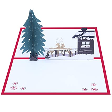 Amazon Polytree 3D Greeting Cards Handmade Christmas House